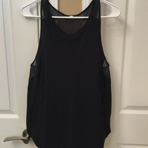 LuLuLemon workout tank with sheer sides and back